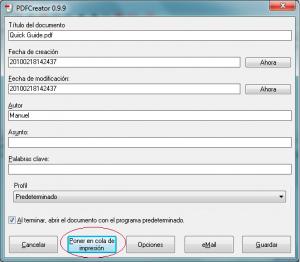 Cómo combinar 2 documentos pdf en 1 con PDF Creator 3