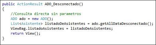 Acceso a Bases de Datos - ADO.NET - Modo Desconectado, con ASP .Net y MVC4 3